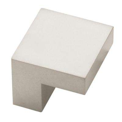Plaza 5/8 in. (16mm) Pearl Nickel 1 in. Wide Square Cabinet Knob