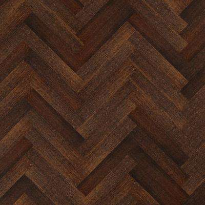 HandScraped Strand Woven Herringbone 3/8in.Tx4-3/4in.Wx23-5/8 in. L Eng. T&G Bamboo Flooring (15.49 sq. ft./ case)