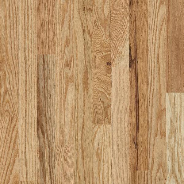 Plano Low Gloss Country Natural Oak 3/4 in. T x 3-1/4 in. W x Varying Length Solid Hardwood Flooring (22 sq. ft./case)