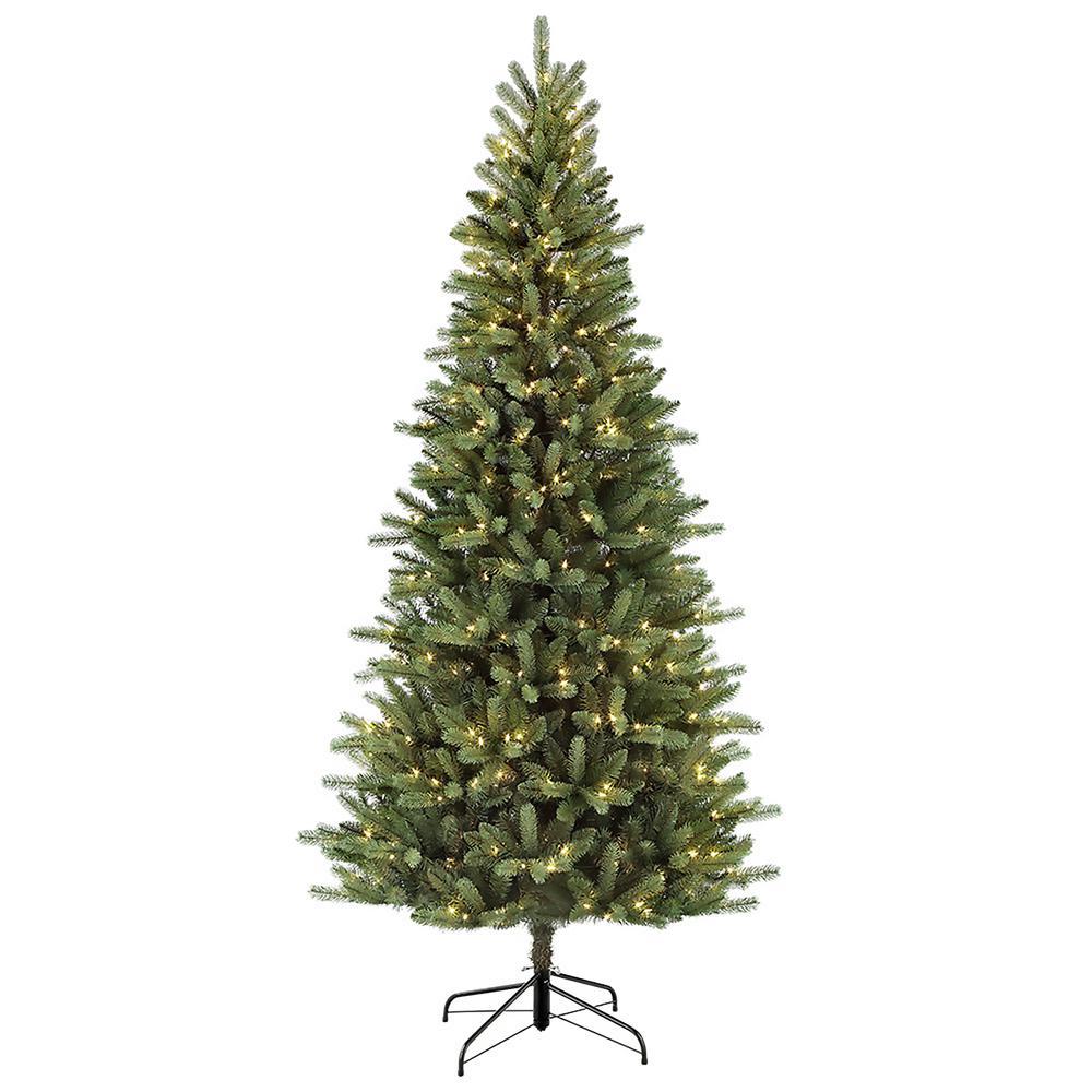 Douglas Fir Artificial Christmas Trees: Puleo International 7.5 Ft. Pre-Lit Incandescent Douglas