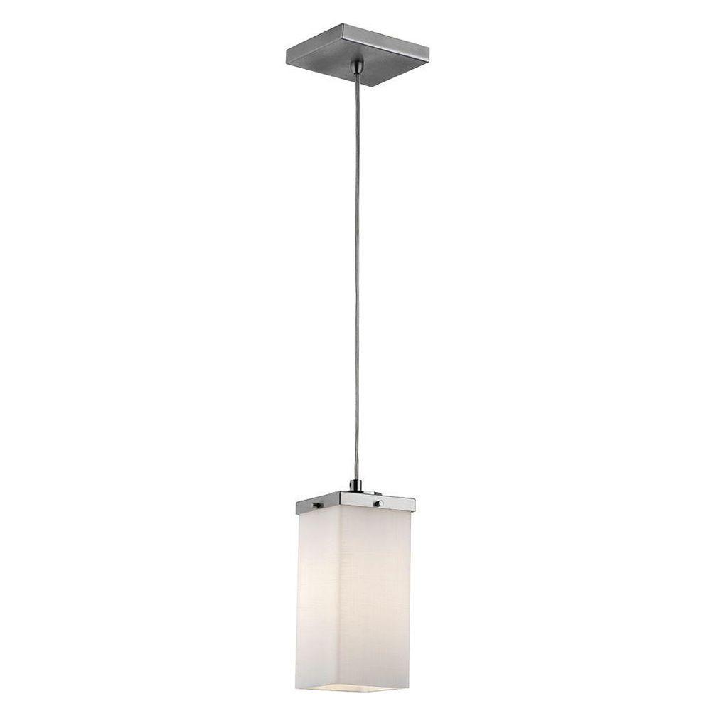 Philips Casa 1-Light Sating Nickel Hanging Pendant