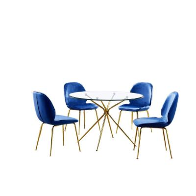 Preston 5 Pcs Dinette Set, Blue