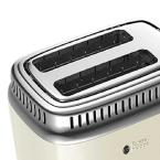 Russell Hobbs Retro Style 2-Slice Cream and Stainless-Steel Toaster
