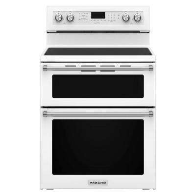 6.7 cu. ft. Double Oven Electric Range with Self-Cleaning Convection Oven in White
