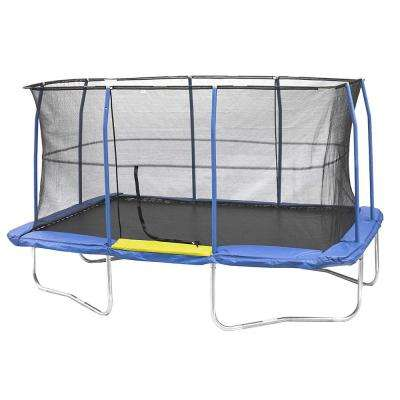 10 ft. by 15 ft. Blue/Yellow Rectangular Trampoline Combo