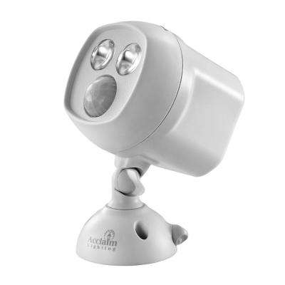 Battery Operated Dove Gray LED Mega Bright Spotlight