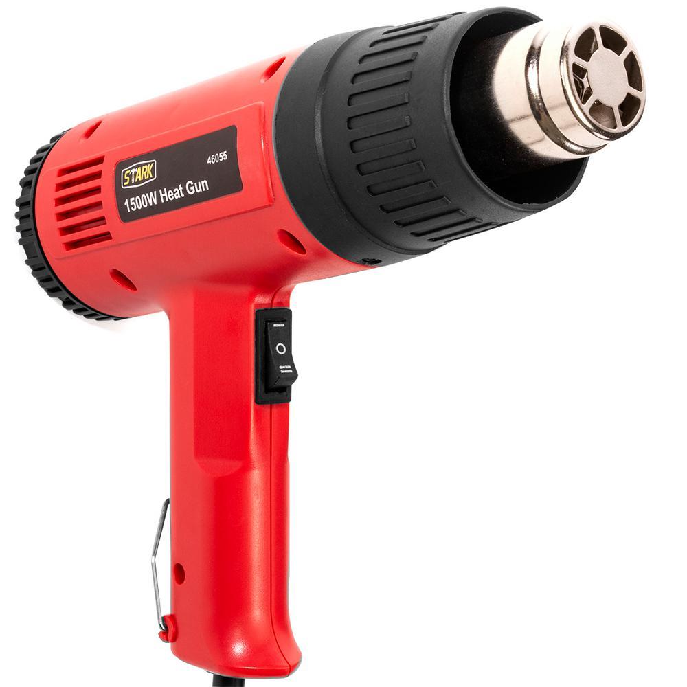 Dual Temperature Heat Gun Kit Shrink Wrapping 4 Nozzles Hot Air Heater 1500W
