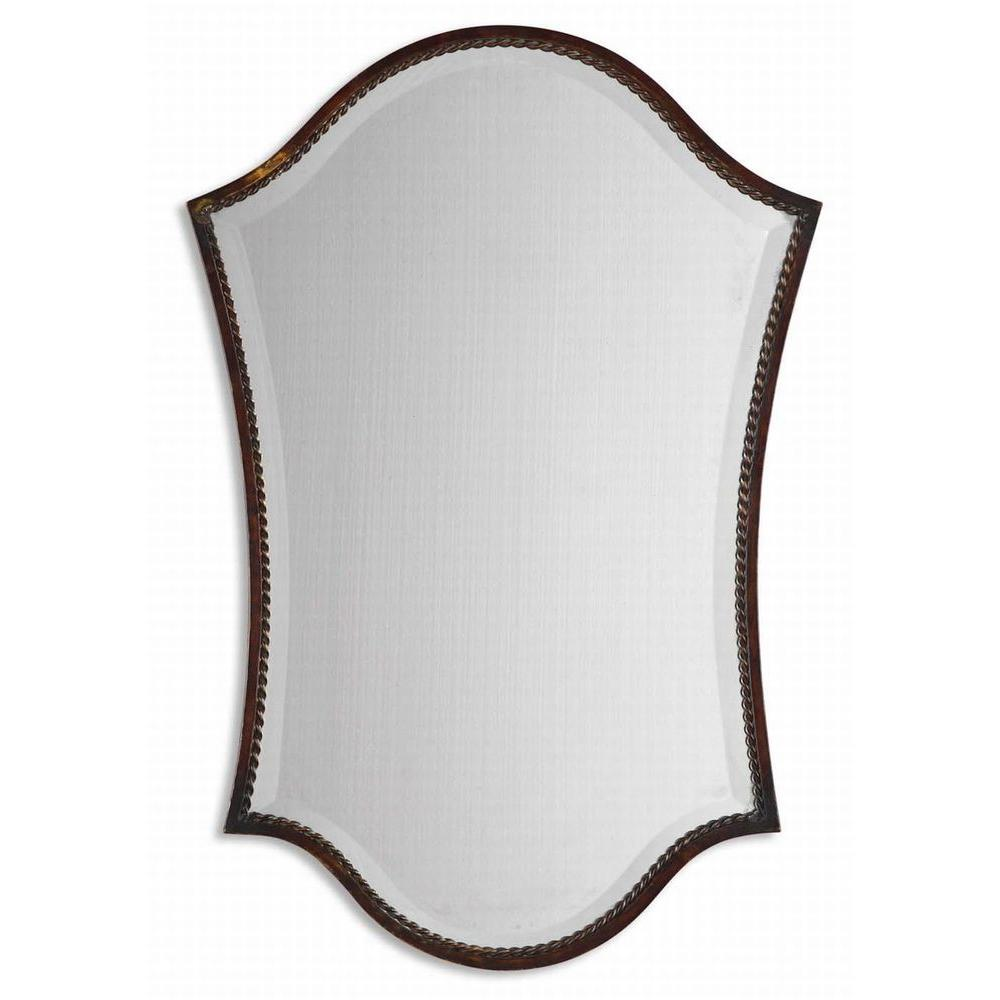 Global Direct 30 in. x 20 in. Bronze Vanity Framed Mirror