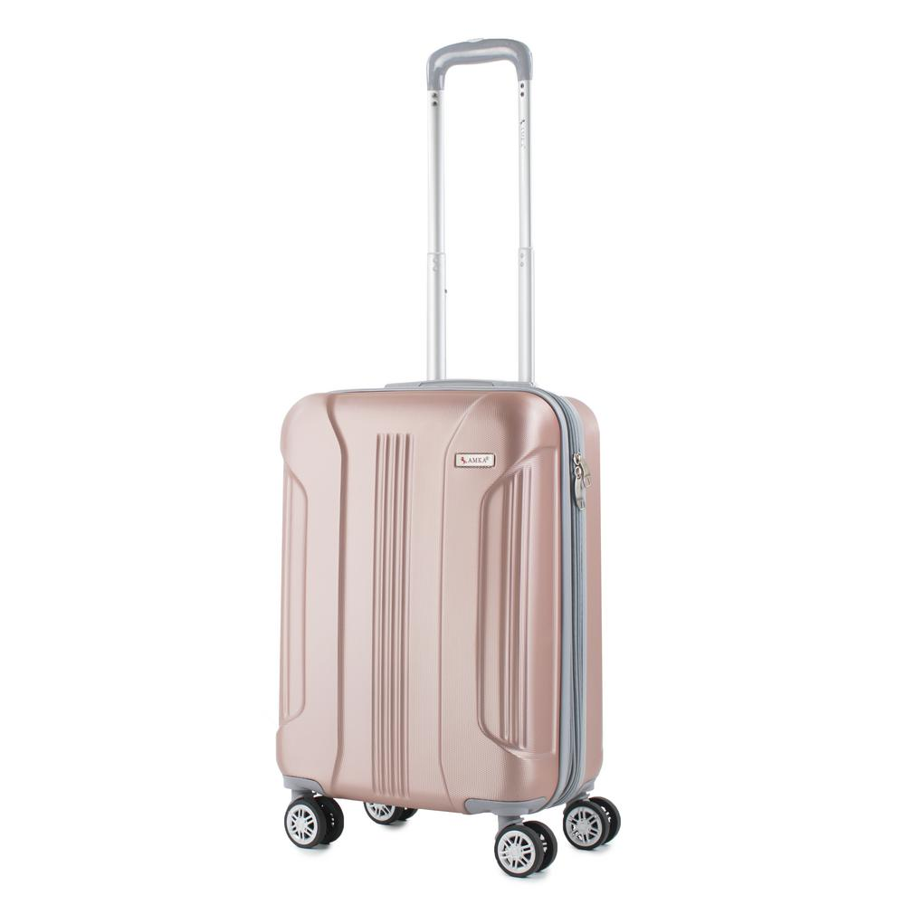 Sierra Rose Gold 20 in. Carry-On Expandable Hardside Spinner Luggage
