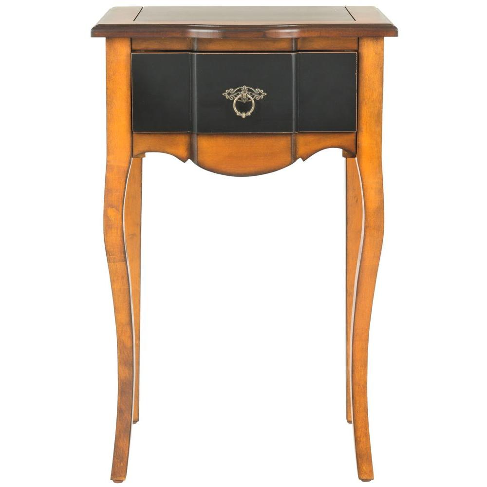 Ordinaire Safavieh Sanda Honey Oak Storage Side Table