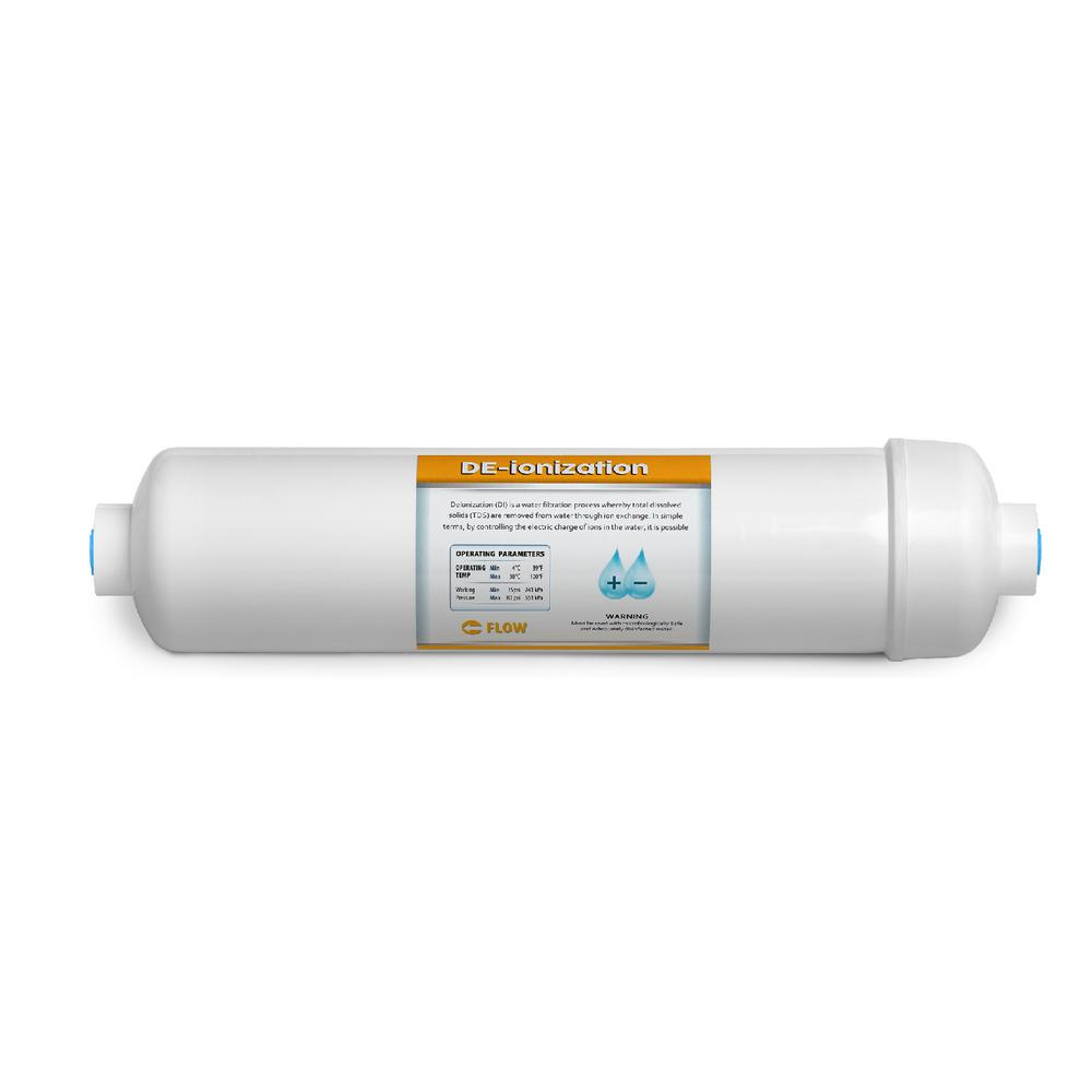 Deionization Water Filter Replacement DI Mixed Bed Purifier 10 in. Under