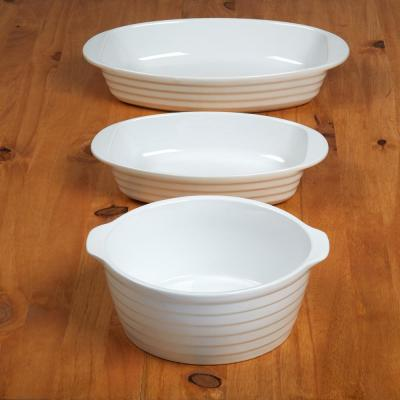 3-Piece Porcelain Bakeware Set