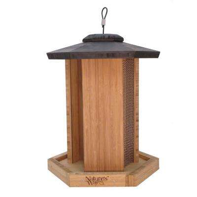 Bamboo Triple Chamber Bird Feeder