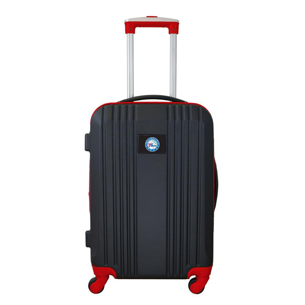 NBA Philadelphia 76ers 21 in. Hardcase 2-Tone Luggage Carry-On Spinner Suitcase