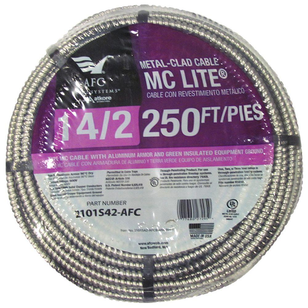 AFC Cable Systems 14/2 x 250 ft. Solid MC Lite Cable