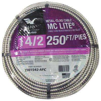 14/2 x 250 ft. Solid MC Lite Cable