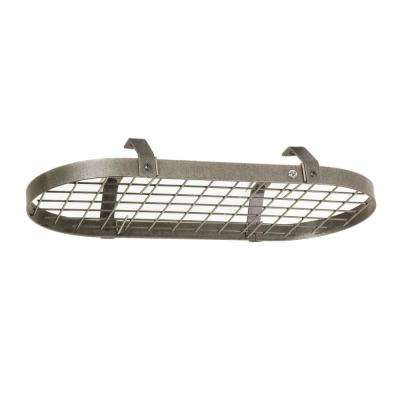 Handcrafted Low-Ceiling Classic Oval with 12 Hooks Hammered Steel