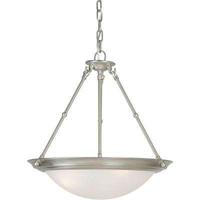 Burton 3-Light Brushed Nickel Incandescent Pendant