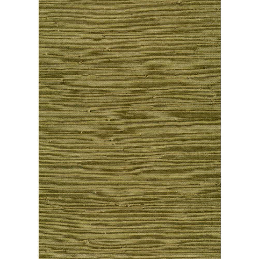 8 in. x 10 in. Izumi Olive Grasscloth Wallpaper Sample