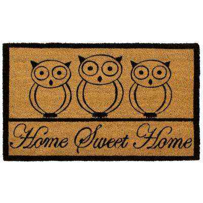 All Weather Home Sweet Home Owl 18 In. X 28 In. Indoor/Outdoor