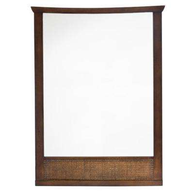Tropic 31 in. x 23 in. Framed Wall Mirror in Nutmeg