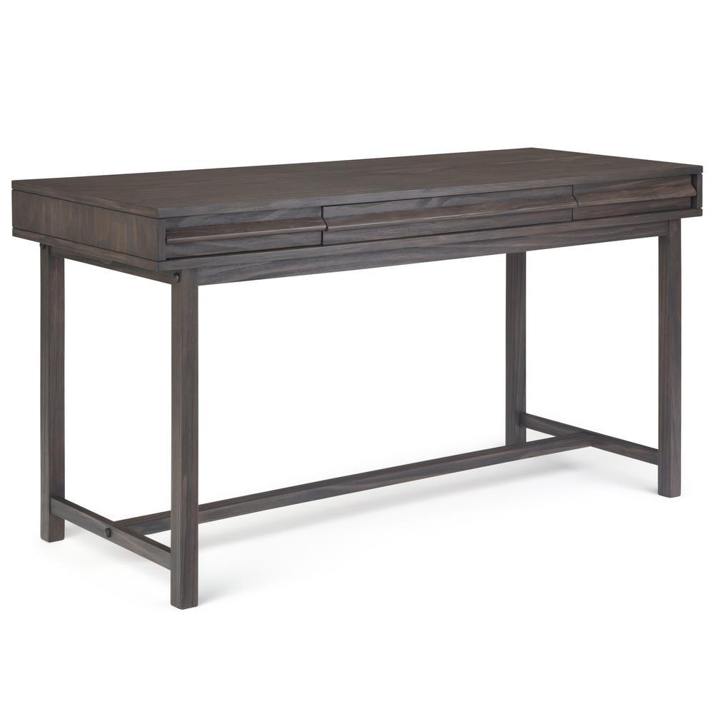 Raylen Solid Wood Rustic Modern 60 inch Wide Desk in Driftwood