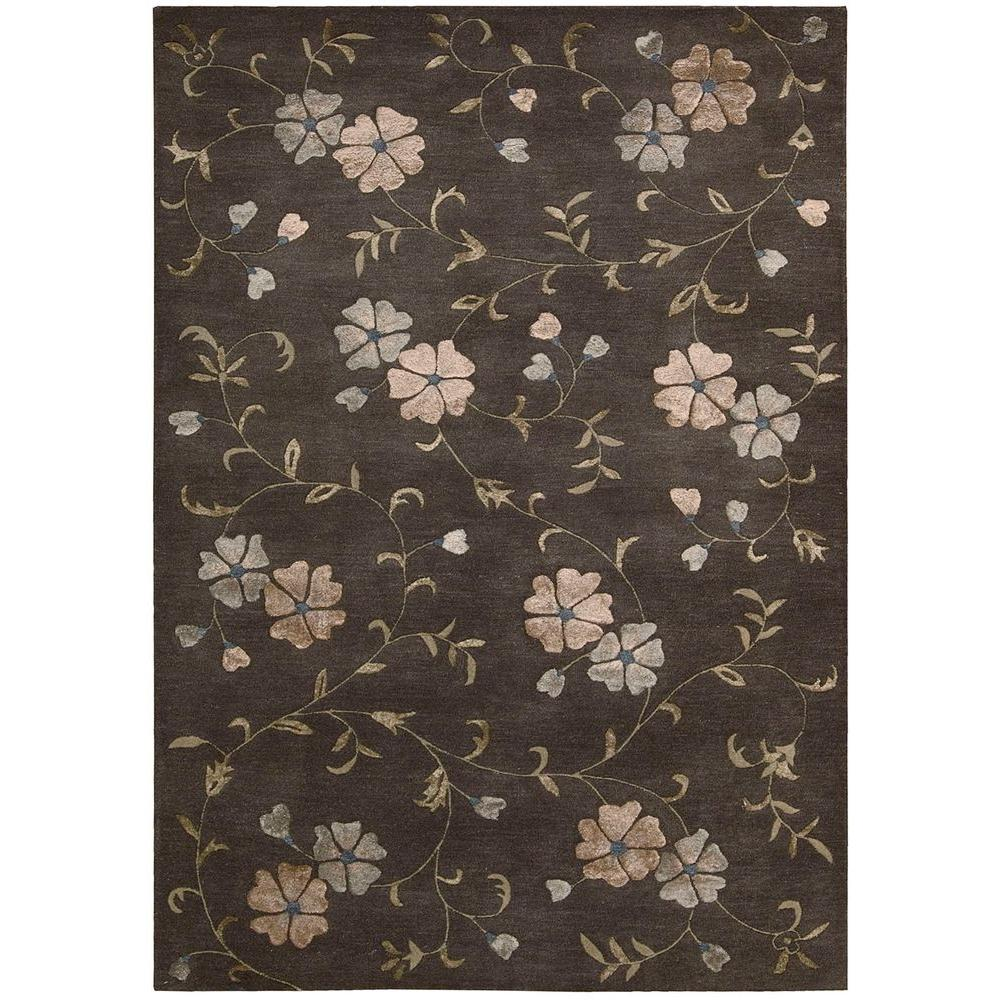 Overstock Area Rugs: Nourison Overstock Oasis Charcoal 8 Ft. X 11 Ft. Area Rug