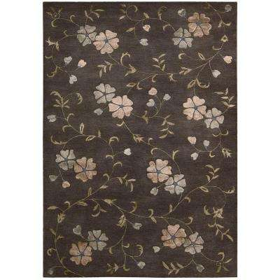 Oasis Charcoal 8 ft. x 11 ft. Area Rug
