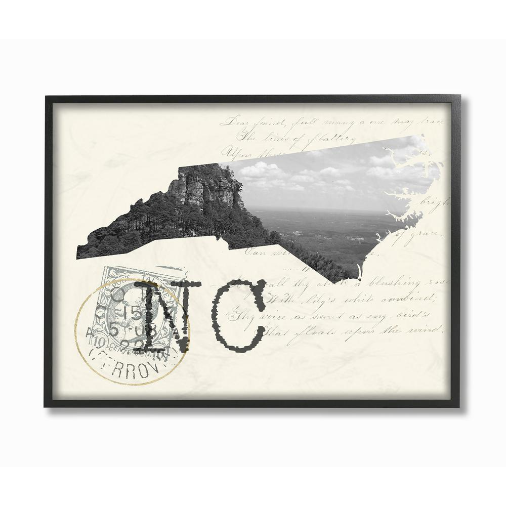 The stupell home decor collection 24 in x 30 in north carolina black
