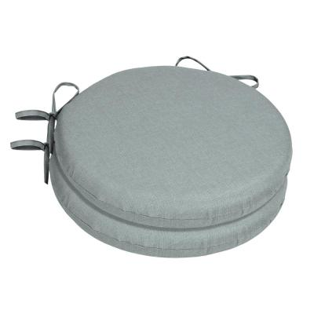 15 x 15 Sunbrella Cast Mist Round Outdoor Chair Cushion (2-Pack)