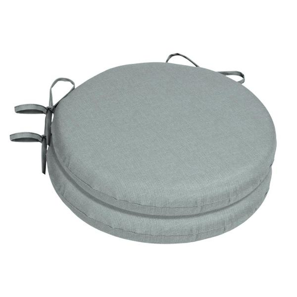 15 x 15 Sunbrella Cast Mist Round Outdoor Chair Cushion (2-Pack)