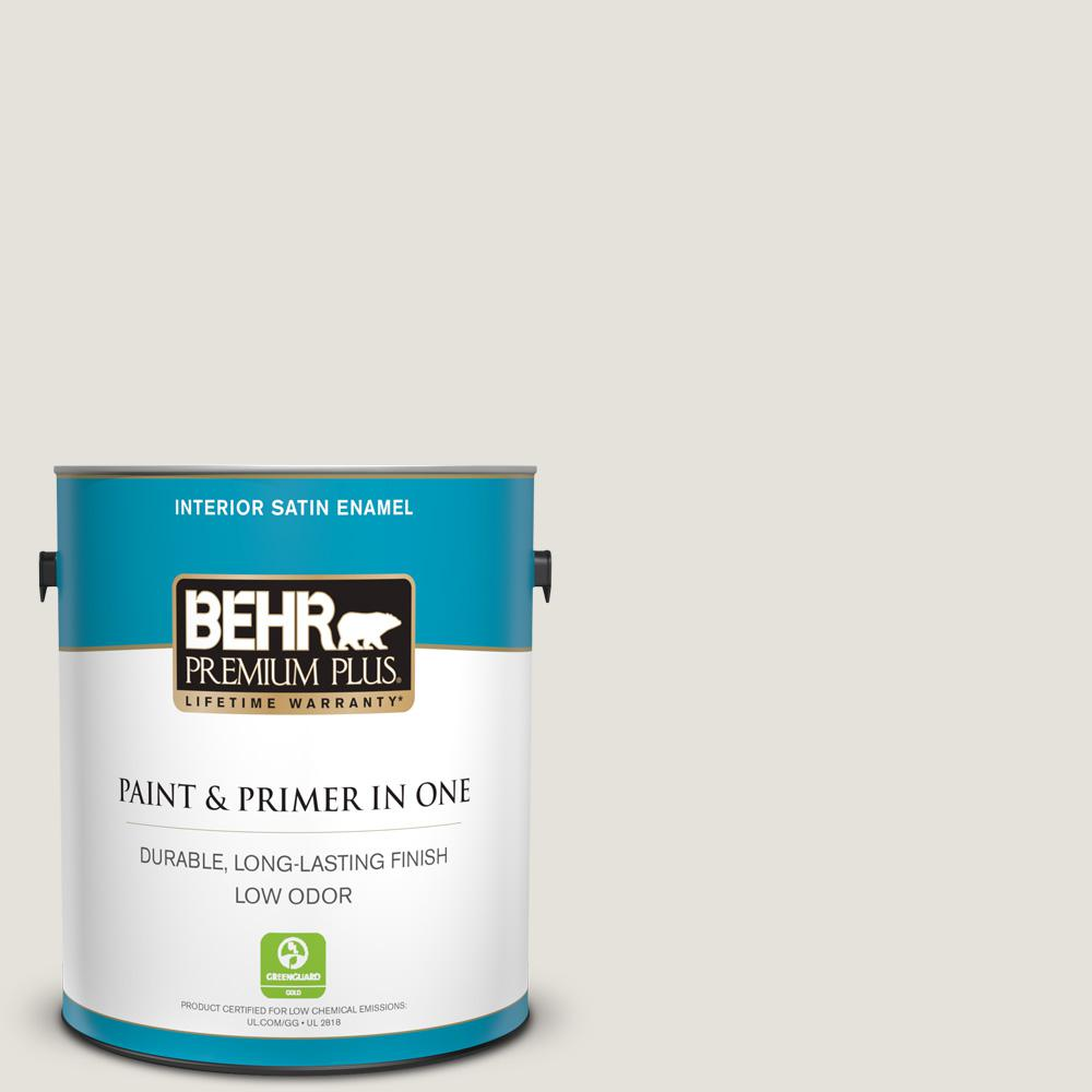 Home Decorators Collection Hdc Nt 21 Weathered White Satin Enamel Low Odor Interior Paint Primer