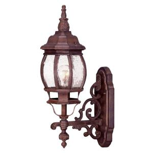 Acclaim Lighting Chateau Collection 1-Light Burled Walnut Outdoor Wall-Mount Light Fixture by