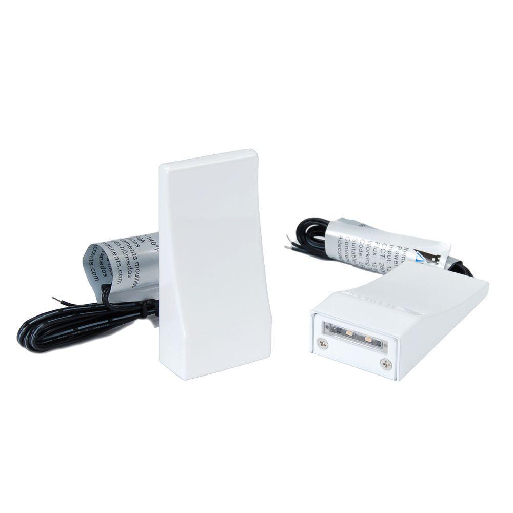 White LED Vertical Post Light (2-Pack)