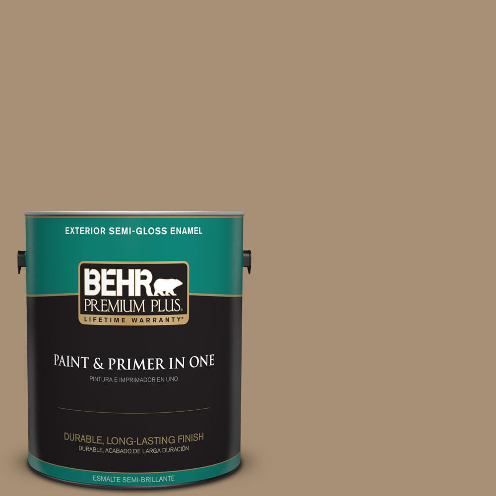 1-gal. #N300-5 Hidden Treasure Semi-Gloss Enamel Exterior Paint