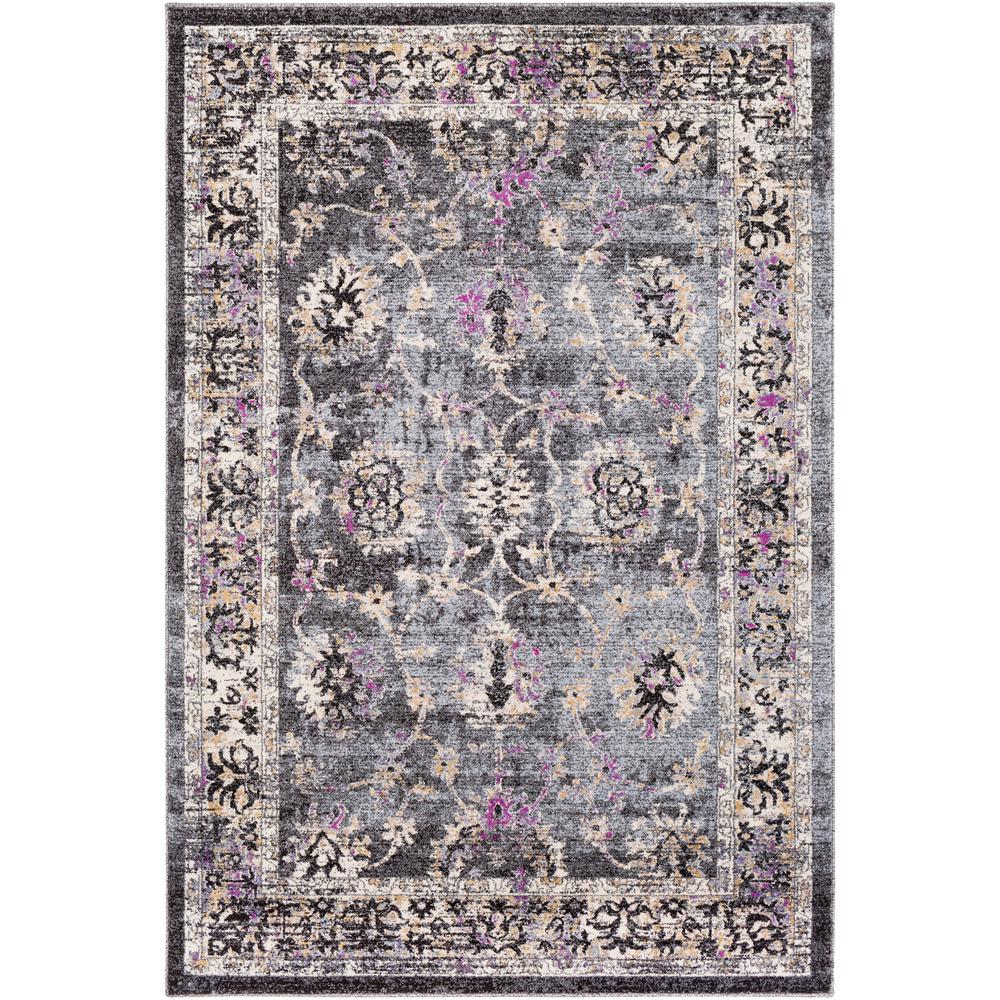 Artistic weavers raphaelle black purple 2 ft x 3 ft for Rugs with purple accents