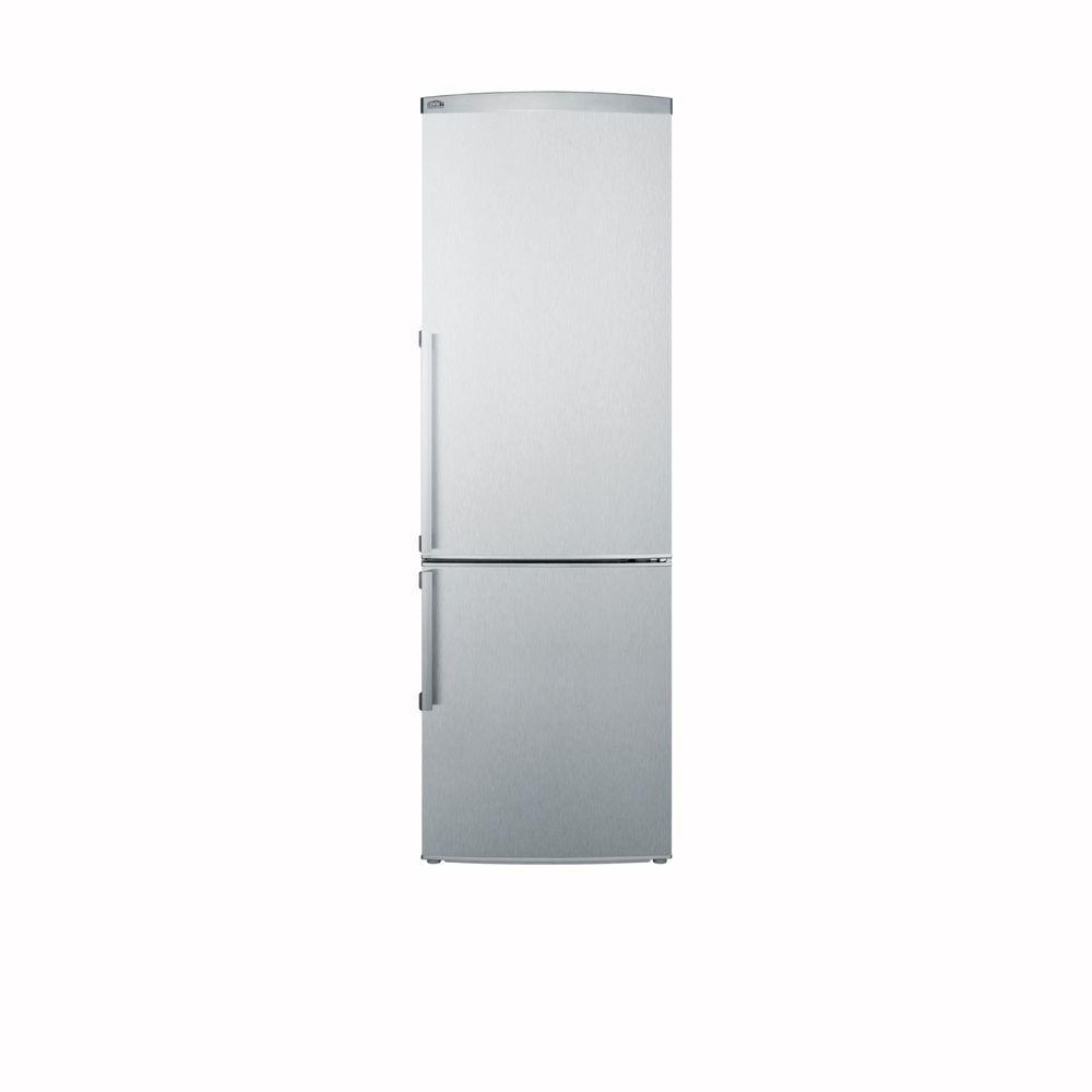 Summit Appliance 9.85 cu. ft. Bottom Freezer Refrigerator in Stainless Steel