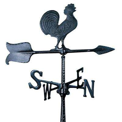 24 in. Black Rooster Accent Weathervane