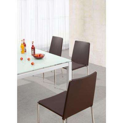 Alex Espresso Leatherette Dining Chair (Set of 4)