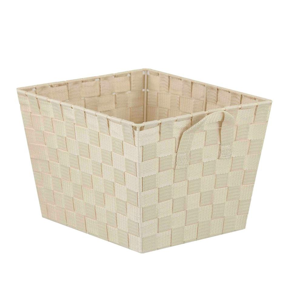 Home Basics 13 in. x 5 in. Ivory Non Stackable Bin