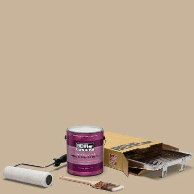 1 gal. #PPU4-07 Mushroom Bisque Ultra Eggshell Enamel Interior Paint and 5-Piece Wooster Set All-in-One Project Kit