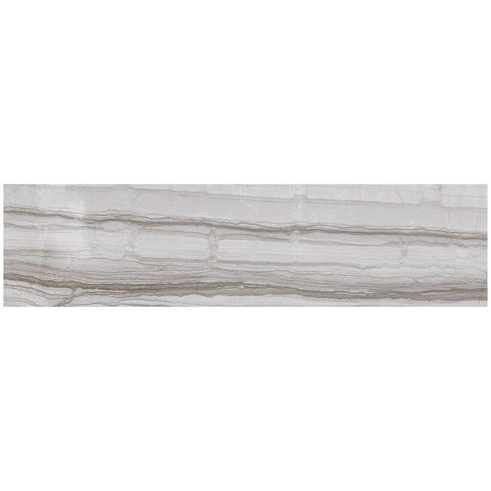 MARAZZI VitaElegante Grigio 6 in. x 24 in. Porcelain Floor and ...