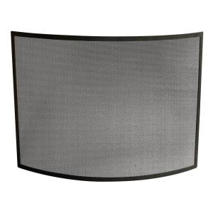 Uniflame Curved Black Wrought Iron Single Panel Fireplace Screen S 1042 The Home Depot