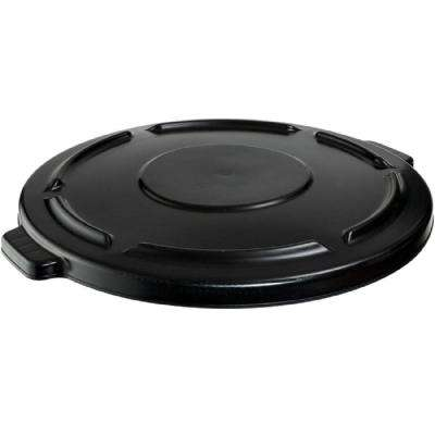 Brute 44 Gal. Black Round Vented Trash Can Lid