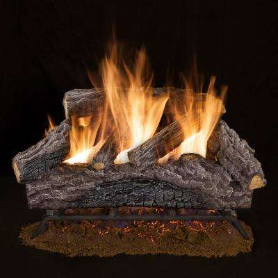 24 In Charred River Oak Vented Natural Gas Log Set