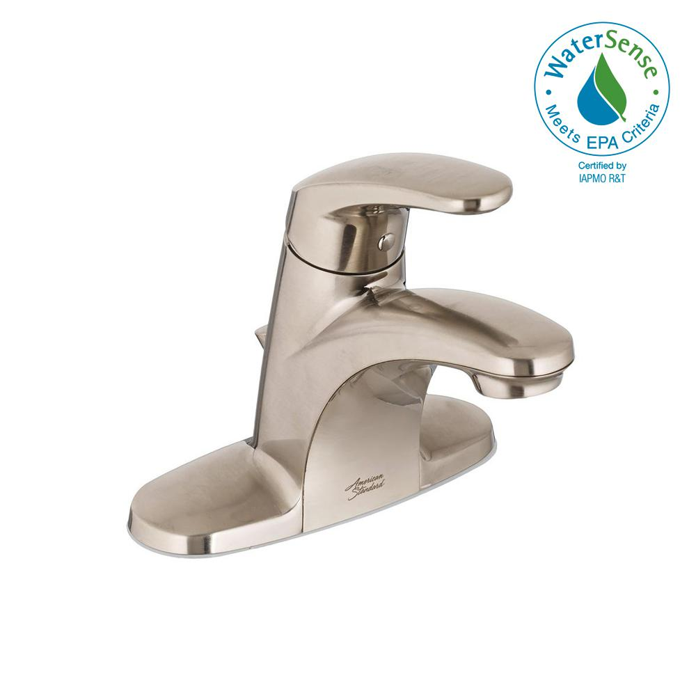 American Standard Colony Pro 4 in. Centerset Single-Handle Bathroom Faucet in Brushed Nickel