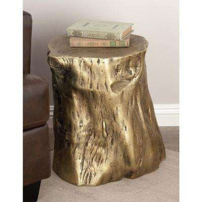 18 in. x 19 in. Natural Tree Trunk Fiberglass Foot Stool