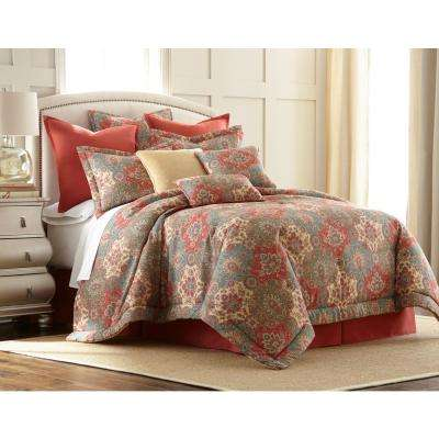 Aladdin 4-piece Multi-color King Comforter Set