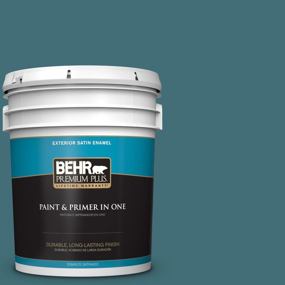 BEHR Premium Plus 5-gal. #520F-6 Cathedral Satin Enamel Exterior Paint