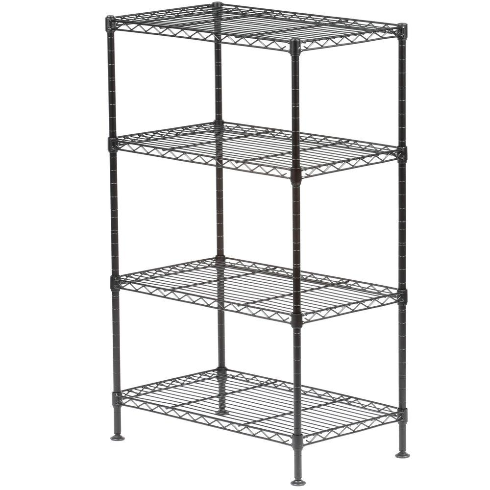 Sandusky 32 in. H x 20 in. W x 12 in. D 4-Shelf Light Duty Wire ...